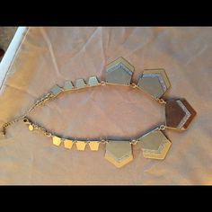 Express Gold And Silver Statement Necklace