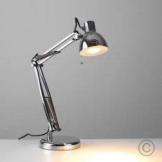 Modern Adjustable Desk Lamp in Chrome