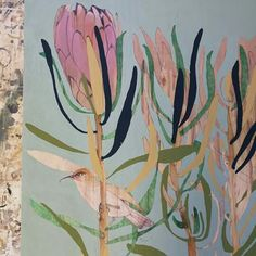Dana Kinter Abstract Flower Art, Abstract Watercolor, Protea Art, Flower Artists, Art For Art Sake, Floral Illustrations, Botanical Art, Bird Art, Art Tutorials