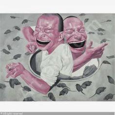 by Yue Minjun (岳敏君, was born in 1962, Heilongjiang, China)