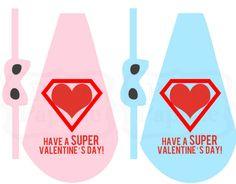 Free printable lollipop superhero cape  mask Valentine