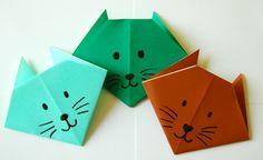 basteln origami tiere idee katzen bastelidee freizeit deko