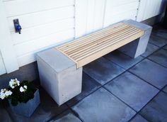 DIY – Hemmagjord betongbänk till trädgården ‹ Dansk inredning och design