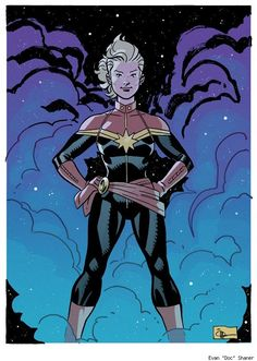 "Captain Marvel by Evan ""Doc"" Shaner  I am so psyched about this series!"