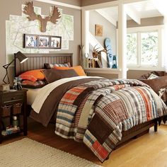 Great PB teen room for boys at the ranch