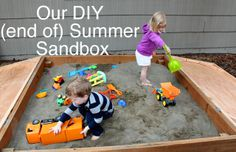 sandbox - open up the ends and have fence posts to attach them to? Maybe offer a little shade?