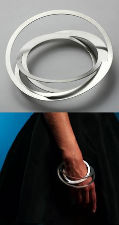 "Bracelet | Klara Sipkova. ""Stretch collection"". Stainless steel"