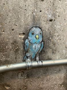 I thought I was being visited by the Bluebird of Happiness, but on closer inspection it was the Budgie of Bemusement. Murals Street Art, 3d Street Art, Street Art Graffiti, Graffiti Artists, Chalk Drawings, Cool Art Drawings, David Zinn, Sidewalk Chalk Art, New York Graffiti