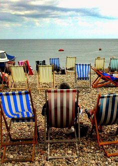 English seaside deckchair by daniel. British Beaches, British Seaside, British Summer, Great British, British Isles, English Summer, Seaside Beach, Beach Relax, Seaside Towns