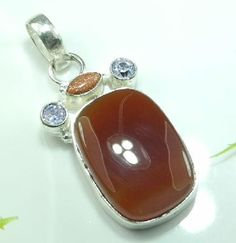 Awesome Sterling Silver .925 Multiple Gemstone Pendant #U8199 $14.95