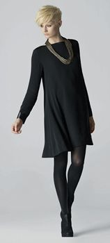 EILEEN FISHER: Winter Looks We Love. LOVE everything: the hair, the clothes, the necklace...