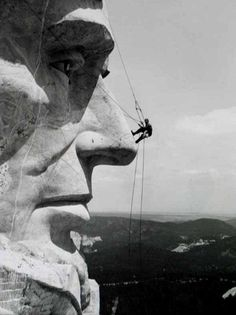 Working on mount rushmore