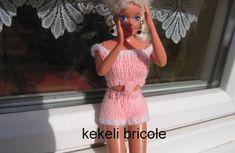 Short et top rose pour poupée Barbie