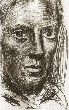 """Pablo Picasso - """"Autoportrait1"""". 1917"""