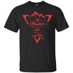 Custom Ultra Cotton T-Shirt: - cotton - Double-needle neck, sleeves and hem; Roomy Unisex Fit - Ash is cotton, poly; Sport Grey is cotton, poly; Dark Heather is cott Hiking Fashion, Mens Attire, Graphic Tees, Tee Shirts, Clothes For Women, Casual, Mens Tops, Mountains, Shopping Mall