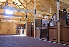 Horse Stalls - Barn Interior www.sandcreekpostandbeam.com https://www.facebook.com/pages/Sand-Creek-Post-Beam-Traditional-Post-Beam-Barn-Kits/66631959179