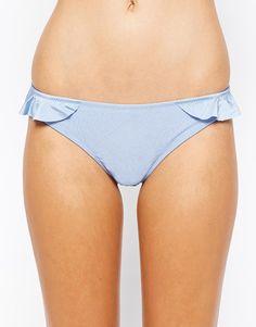 Candy Girl Bikinihose von South Beach aus elastischem Material für Bademode tiefer Hüftschnitt Rüschenborten an den Seiten figurschmeichelnde, bedeckende Rückseite