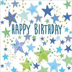 Happy Birthday Male Friend, Happy Birthday Floral, Happy Birthday Wishes Cards, Birthday Cards For Friends, Happy Birthday Images, Very Happy Birthday, Birthday Star, Blue Birthday, Holiday Messages