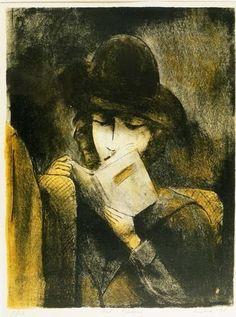 Girl Reading. Isadore Weiner.