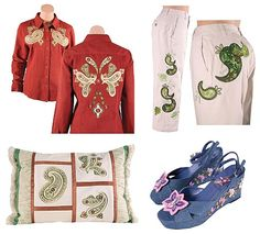 Fashion Paisley Machine Embroidery