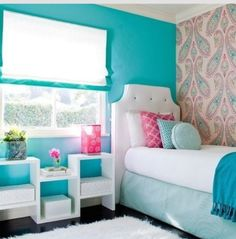 This is a cute girls bedroom if u have a small room