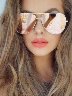Quay X - Vivienne Rose Gold Aviator Sunglasses :https://www.amandamillsla.com/index.php/product/quay-x-vivienne-rose-gold-aviator-sunglasses/