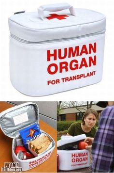 Clever bag to carry your lunch to work or school. EMT Insulated Tote Lunchbag, lunch box, Human Organ for Transplant, Buy OnlineScienceMall Fast Shipping Medical Humor, Nurse Humor, Medical Assistant, Medical School, Paramedic Humor, Medical Gifts, Pharmacy Humor, Physician Assistant, Organ Transplant