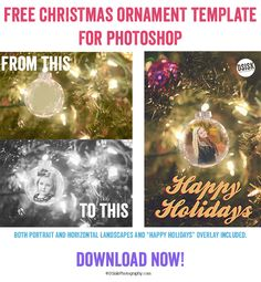 Free Christmas Ornament Template  for Photoshop