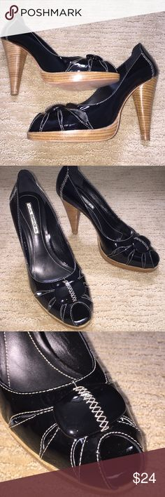 """NWOT VIA SPIGA BLACK 4.5"""" HEEL STILETTOS SIZE 9 DESIGNER SEXY VIA SPIGA: Black patent leather open toe, 4.5"""" stilettos heels. Runs a little narrow, Made in Italy. Brand new in excellent condition never been worn, comes with the box. Via Spiga Shoes"""