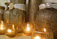 Weddings, Wedding Decorations, Winter Wedding, Caramel Wedding, Fall Wedding, Wedding Centerpieces, Gold, Christmas Wedding, Christmas Decor. $39.00, via Etsy.