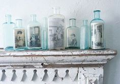 Old bottles + old pictures. things-i-might-enjoy-at-home