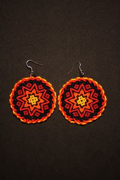 Seed Bead Jewelry, Seed Bead Earrings, Star Earrings, Beaded Earrings, Crochet Earrings, Native American Beading, Native American Jewelry, Brick Stitch Earrings, Beading Techniques