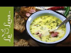 Ciorba de cartofi cu afumatura - Reteta VIDEO Cheeseburger Chowder, The Creator, Cooking, Soups, Drinks, Places, Food, Fat, Recipies