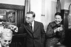 Simone de Beauvoir et Jean-Paul Sartre. Paris, 1959. Photo: Georges Pierre.