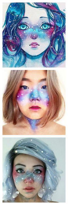 DIY Inspiration: Galaxy Freckles Trend Started by Artist QinniI...