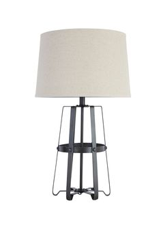 Antique black and silver finish metal table lamp. – Outfit My Home