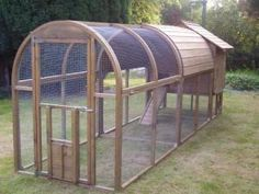 Large Chicken Coop With Large Run, love the design