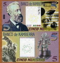 2012 Kamberra UNC /> Polynesian Exotism TYPE 2 SPECIMEN Kingdom 5 Numismas