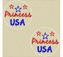 FREE USA Princess Feltie Design