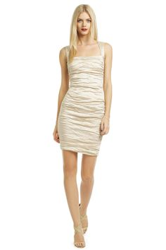 Square Neck Metallic Sheath  Fav new shopping site!!!! RENTTHERUNWAY.com  designer dresses for rent at ~10% the original price.  What a great idea these girls had!