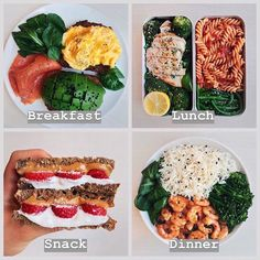 us (Sandy b) for more healthy meals . By Wen. us (Sandy b) for more healthy meals . By Wen. - The Ultimate Meal Prep Healthy Meal Prep, Healthy Drinks, Healthy Snacks, Healthy Eating, Healthy Recipes, Healthy Brunch, Meal Recipes, Shrimp Recipes, Salmon Recipes