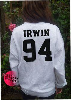 "Ashton ""Irwin 94"" Sweatshirt 5 Second of Summer 5sos michael ashton callum ashton boy band t shirt pop harry styles 1d bieber zayn malik"