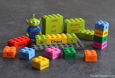 Apprendre par le jeu… Les Conjugaisons avec des briques Lego | Range tes jouets !