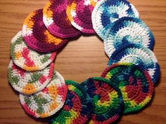 Multicolored Circle Handmade Cotton by HoffmanHandicrafts on Etsy, $1.50