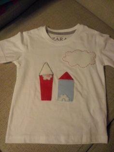 Camiseta personalizada con fieltro
