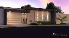 Proposta de uma nova Fachada , com designer super moderno e contemporâneo.  Destaque para revestimento Main Gate Design, House Gate Design, House Front Design, Small House Design, Modern Fence Design, Modern Exterior House Designs, Modern House Design, Exterior Design, Compound Wall Design