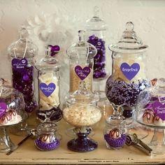 candy bar...think pink, silver, white candies :) ~weddinggawker.com