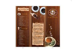 This menu helps to convey the restaurant mood through imagery. The text is characterized to match the scene, both in placement and font/color choices.