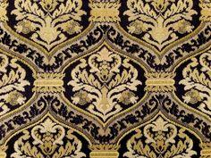 Regency Stripe Fabric Fabrics Pinterest Regency Teal And - Black and gold stripe drapery fabric