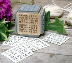 NEW wooden mounted rubber stamp with assorted sayings